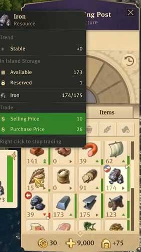 Anno 1800 How to Make Money - Trade History Per Item