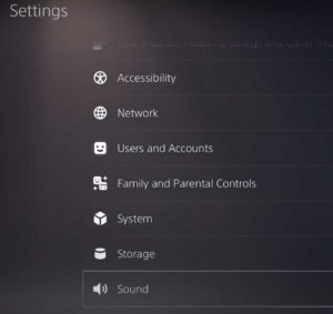 PlayStation 5 Settings: Sound