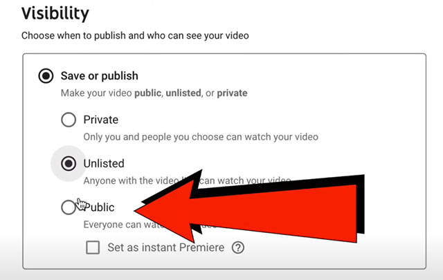 How to Create and Upload YouTube Shorts From PC, Laptop - visibility
