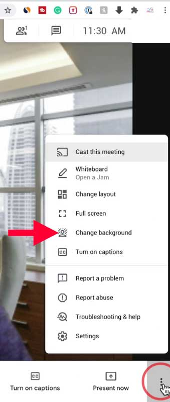 How to Change Background in Google Meet in Laptop and PC - Google Meet inside of the meeting change background