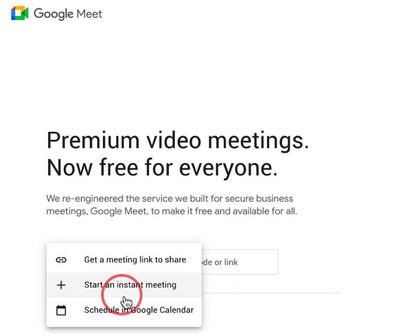 How to Change Background in Google Meet in Laptop and PC - Google Meet Start an instant meeting